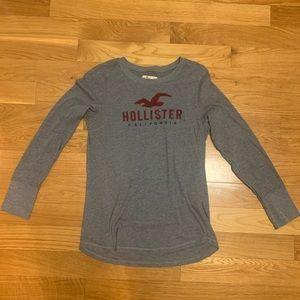 Hollister Long Sleeve Tshirt Gray Size Large
